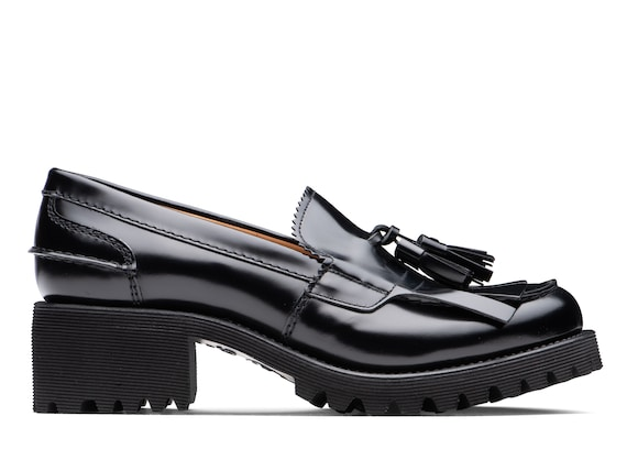 Church's Colleen 40t Polished Fumè Tassel Loafer Black