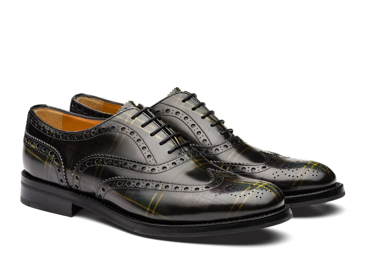 Burwood wg Church's Polished Fumè Oxford Tartan Grey