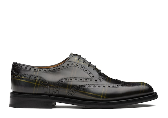 Church's Burwood wg Polished Fumè Oxford Tartan