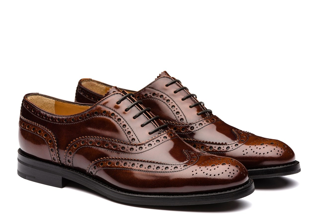 Burwood wg Church's Polished Fumè Oxford Brogue Brown