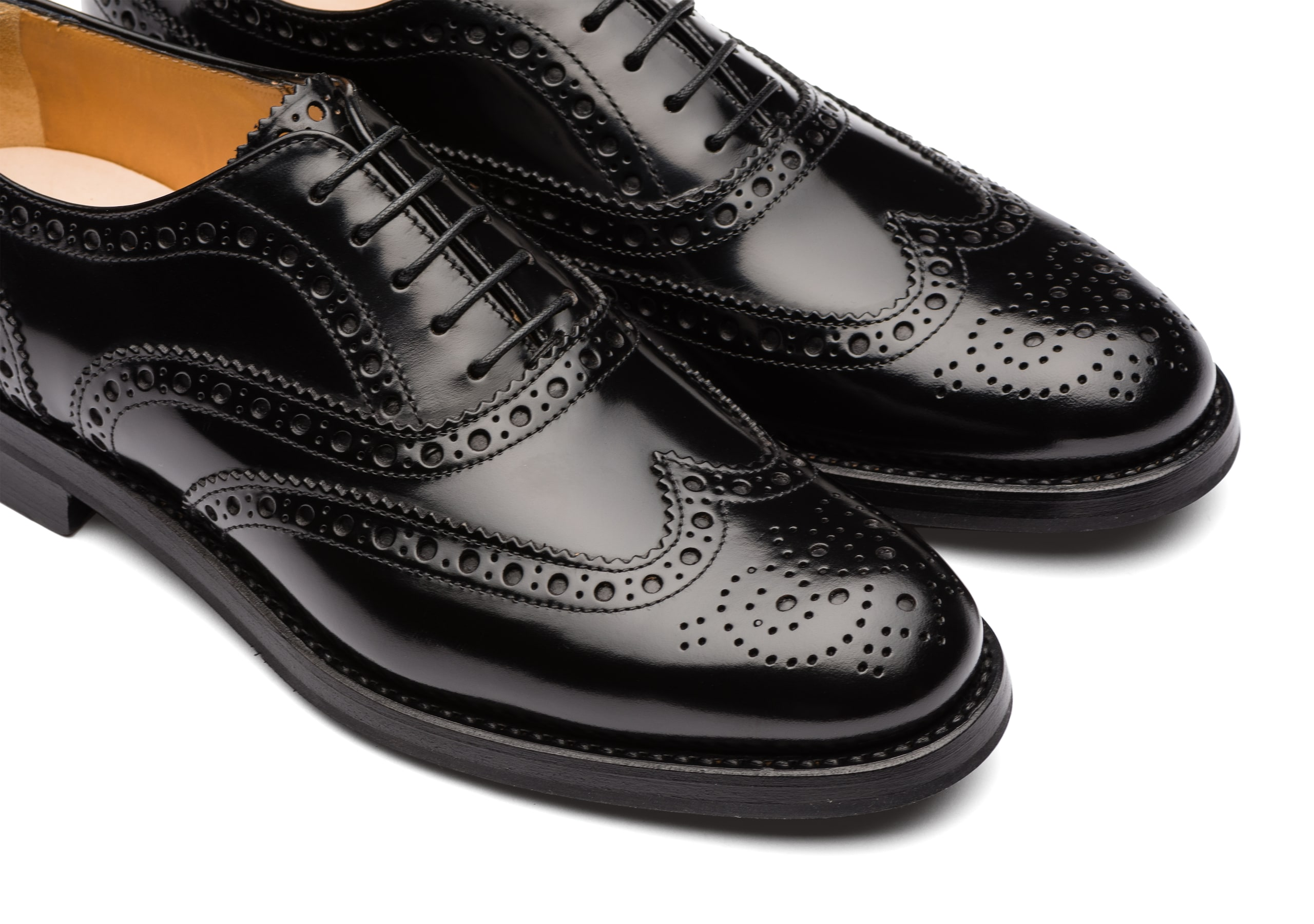 Burwood wg Church's Polished Binder Oxford Brogue Black