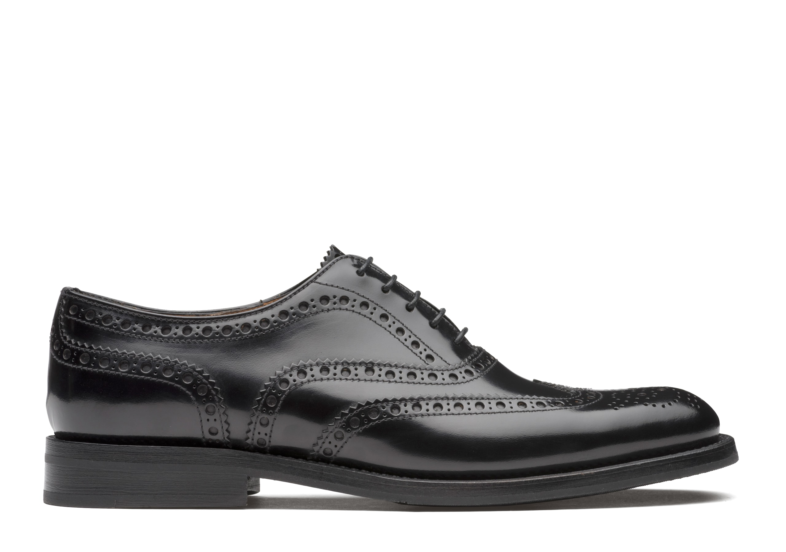 Burwood wg Church's Oxford Brogue in Pelle di Vitello Spazzolato Nero