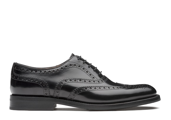 Church's Burwood wg Oxford Brogue in Pelle di Vitello Spazzolato Nero