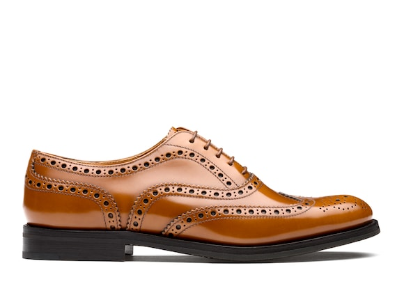 Church's Burwood wg Polished Binder Oxford Brogue Sandalwood