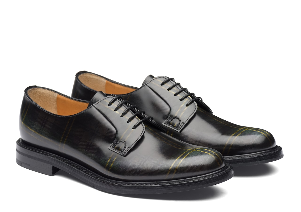 Shannon 2 wr Church's Polished Fumè Derby Tartan Grey
