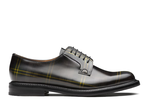 Polished Fumè Derby Tartan