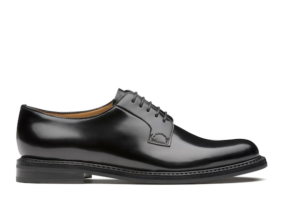 Church's Shannon 2 wr Derby in Pelle di Vitello Spazzolato Nero