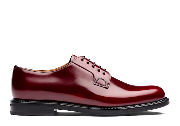 Church's Shannon 2 wr Derby in Pelle di Vitello Spazzolato Cherry