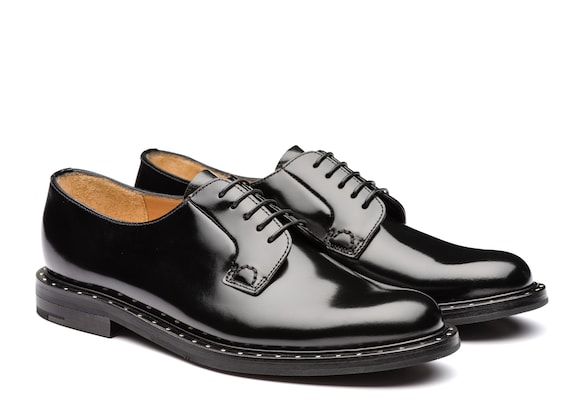 Church's Shannon met Derby in Pelle di Vitello Spazzolato Nero