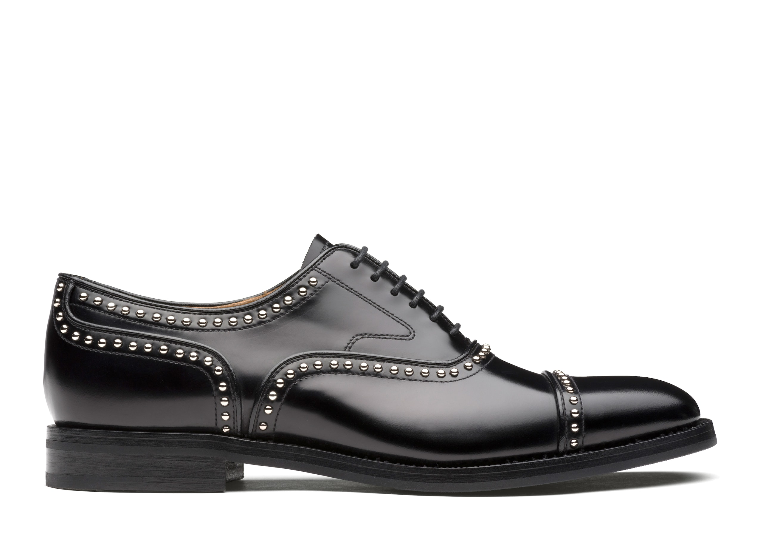 Anna met Church's Polished Fumè Oxford  Stud Black
