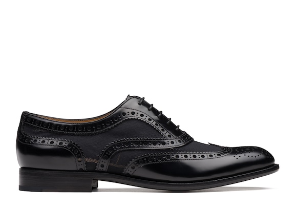 Polished Fumè & Mesh Oxford Brogue