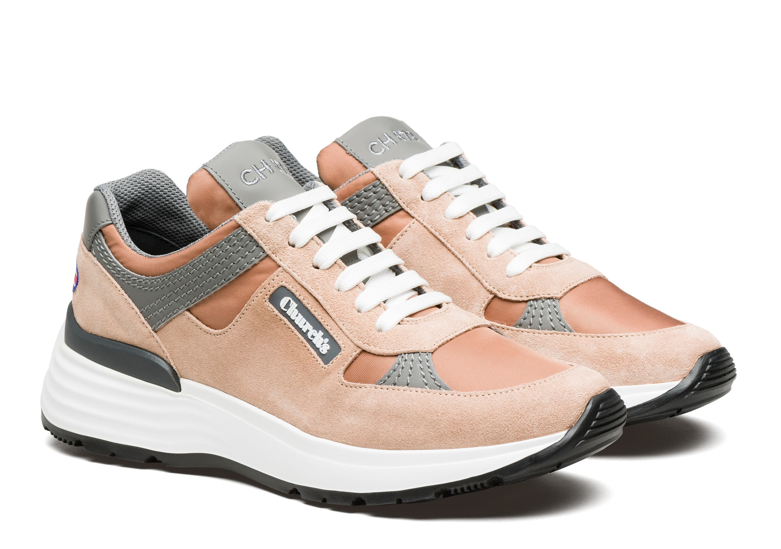 Ch873 Church's Suede Tech Retro Sneaker Pink