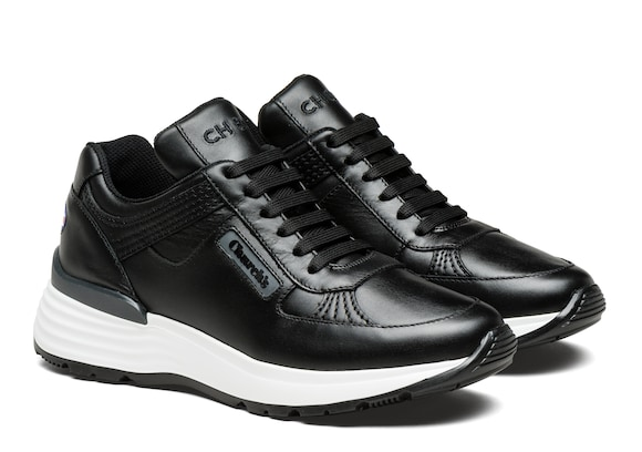 Church's Ch873 Plume Calf Leather Retro Sneaker Black