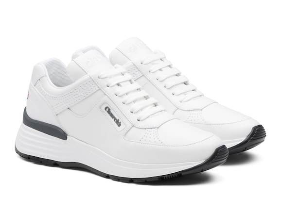 Church's Ch873 Plume Calf Leather Retro Sneaker White