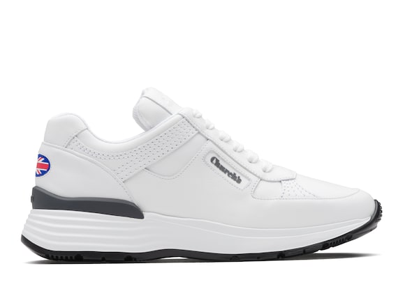 Church's Ch873 Sneaker Rétro in Pelle di Vitello Plume Bianco