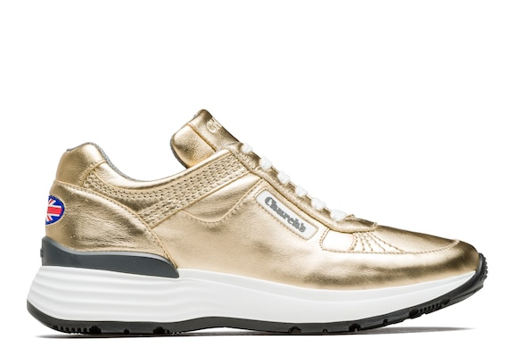 Church's Ch873 Sneaker Rétro in Pelle di Vitello Plume Oro