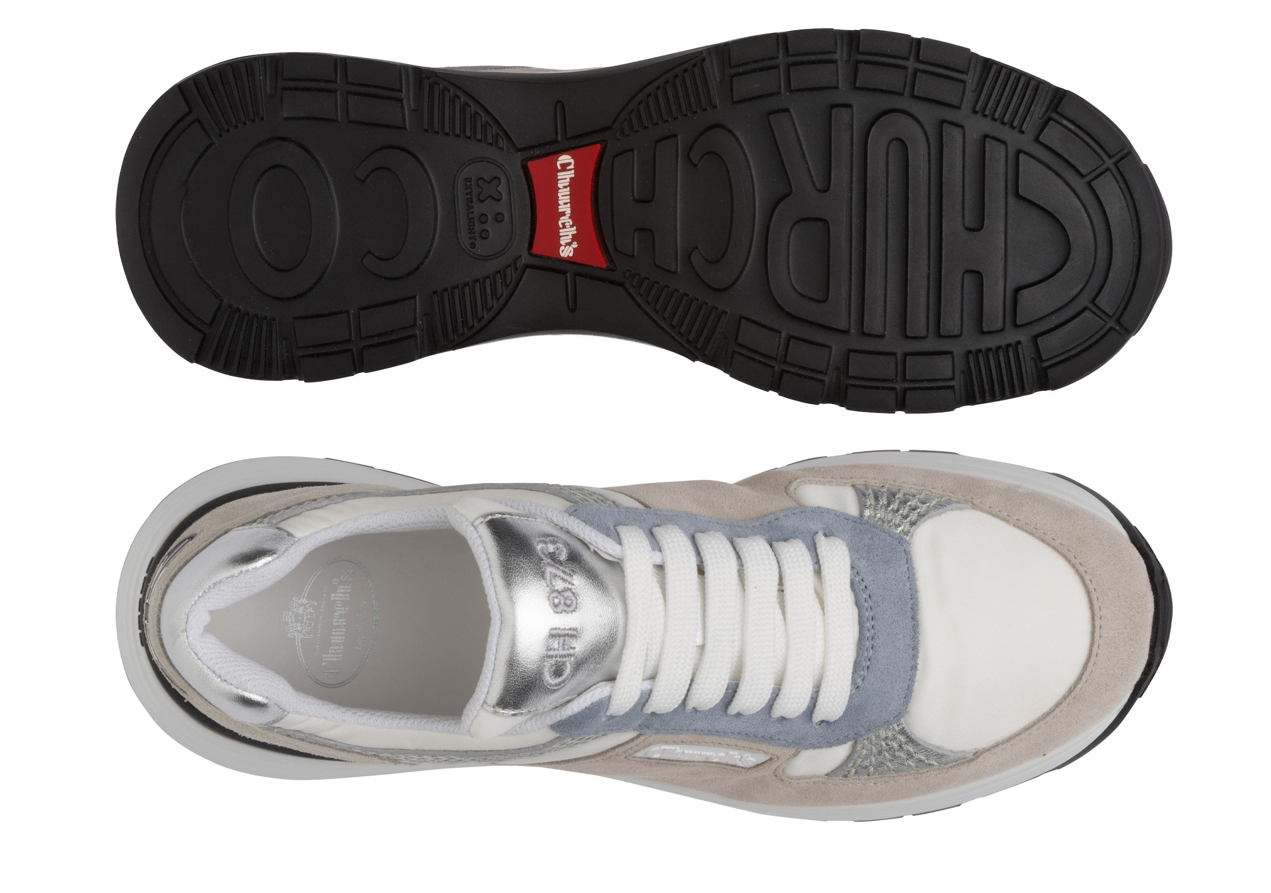Ch873 Church's Suede Tech & Metallic Retro Sneaker Grey