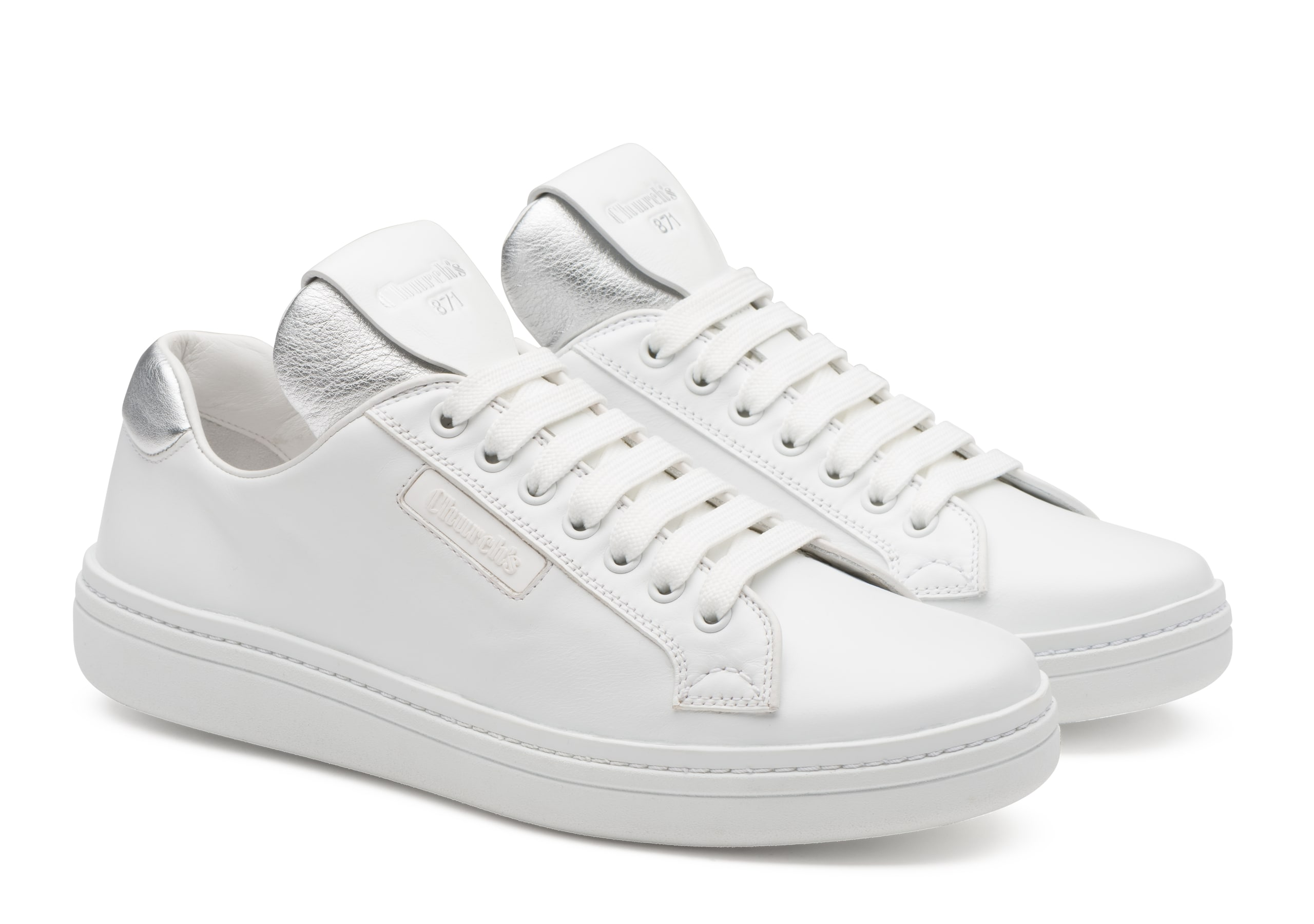 Ch871 Church's Sport Calf Leather Classic Sneaker White