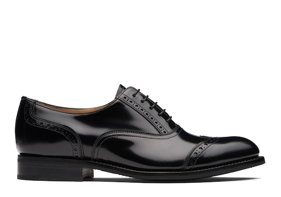 Church's true Oxford Brogue in Pelle Lucida Fumé Nero