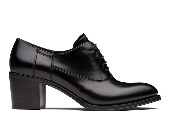 Church's true Polished Fumè Heeled Oxford Black