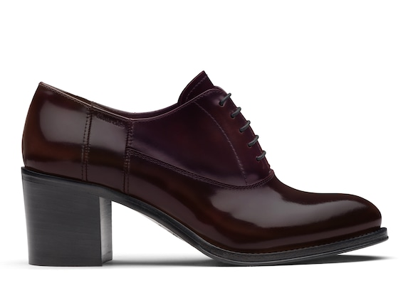 Church's true Polished Fumè Heeled Oxford Light burgundy