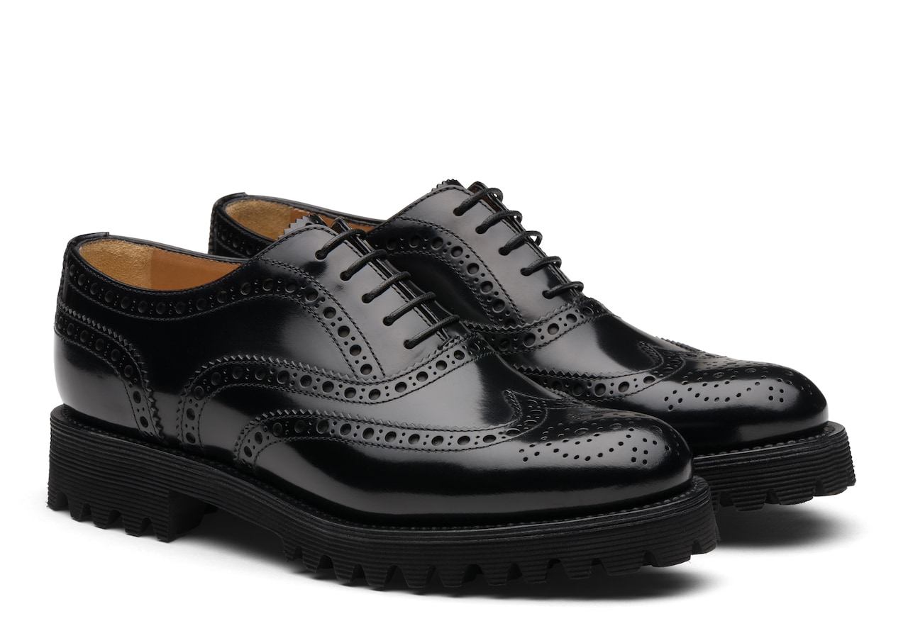 Carla Church's Polished Binder Oxford Brogue Black