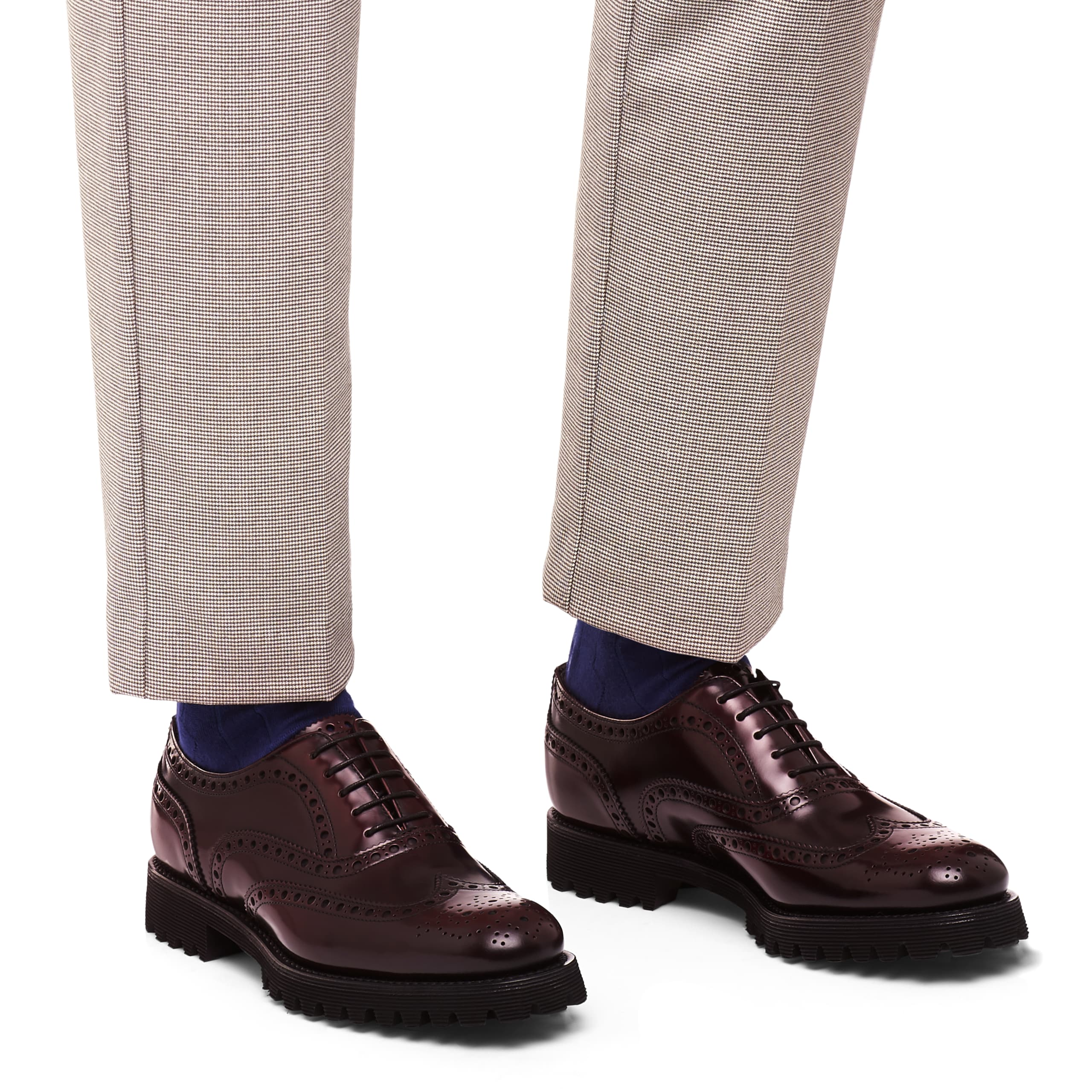 Carla Church's Polished Binder Oxford Brogue Burgundy