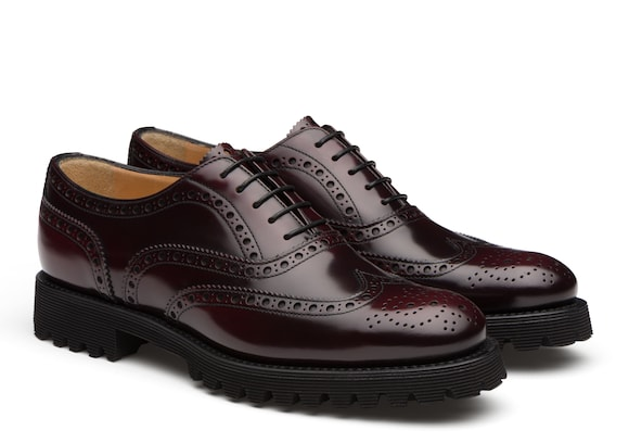 Church's Carla Oxford Brogue in Pelle Spazzolata Lucida Burgundy