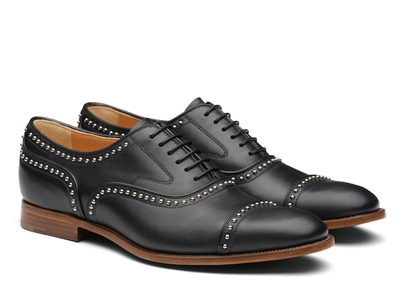 Church's Anna met. 2 Calf Leather Oxford Stud Black