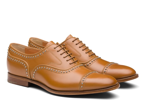 Church's Anna met. 2 Calf Leather Oxford Stud Natural
