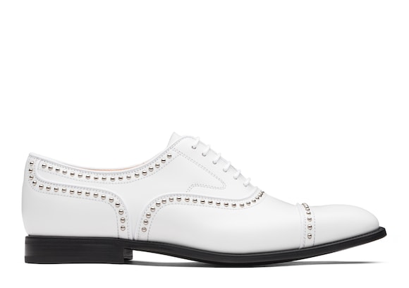 Church's Anna met. 2 Oxford en Cuir Verni Clouté Blanc