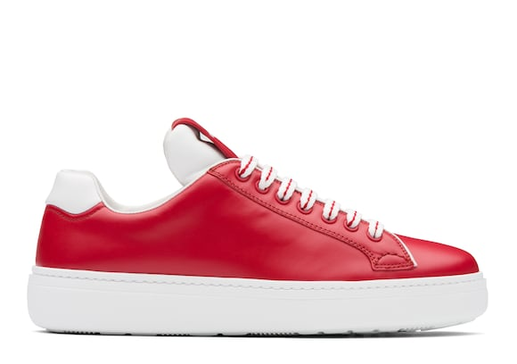 Church's Boland Calf Leather Classic Sneaker Red/white