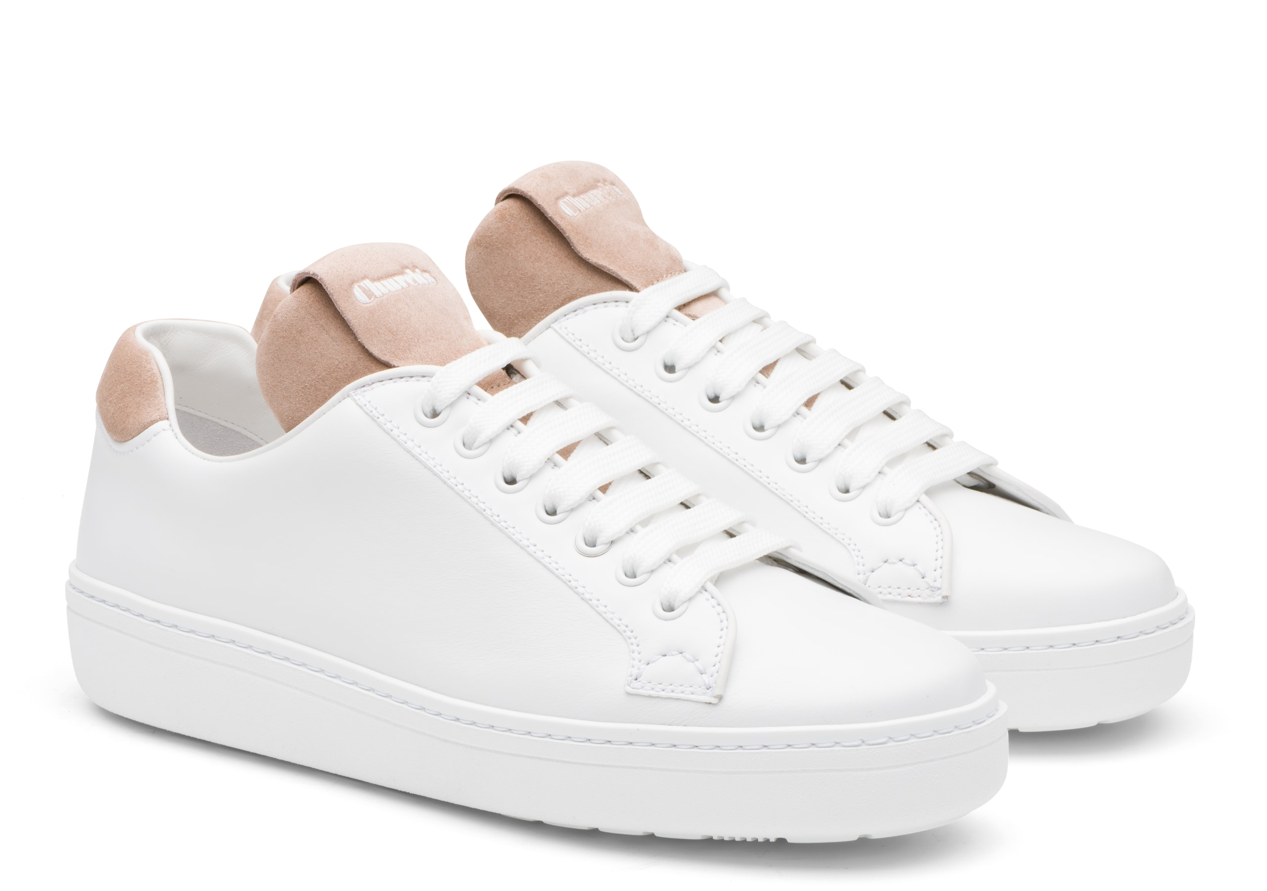 Boland w Church's Calf Leather and Suede Classic Sneaker White