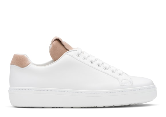 Church's Boland Calf Leather and Suede Classic Sneaker White/blush