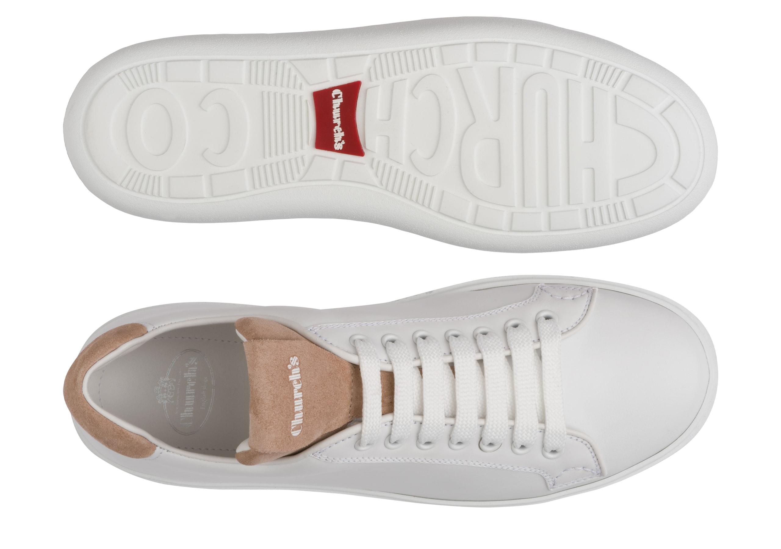 Boland w Church's Calf Leather Classic Sneaker White