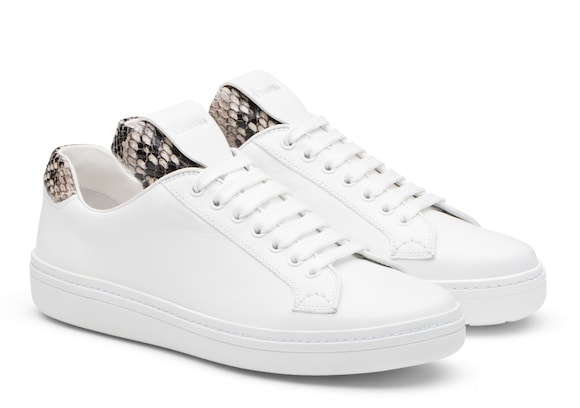 Church's  Calf Leather and Python Classic Sneaker White/beige