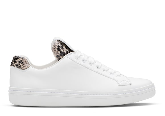 Church's Boland Calf Leather and Python Classic Sneaker White/beige