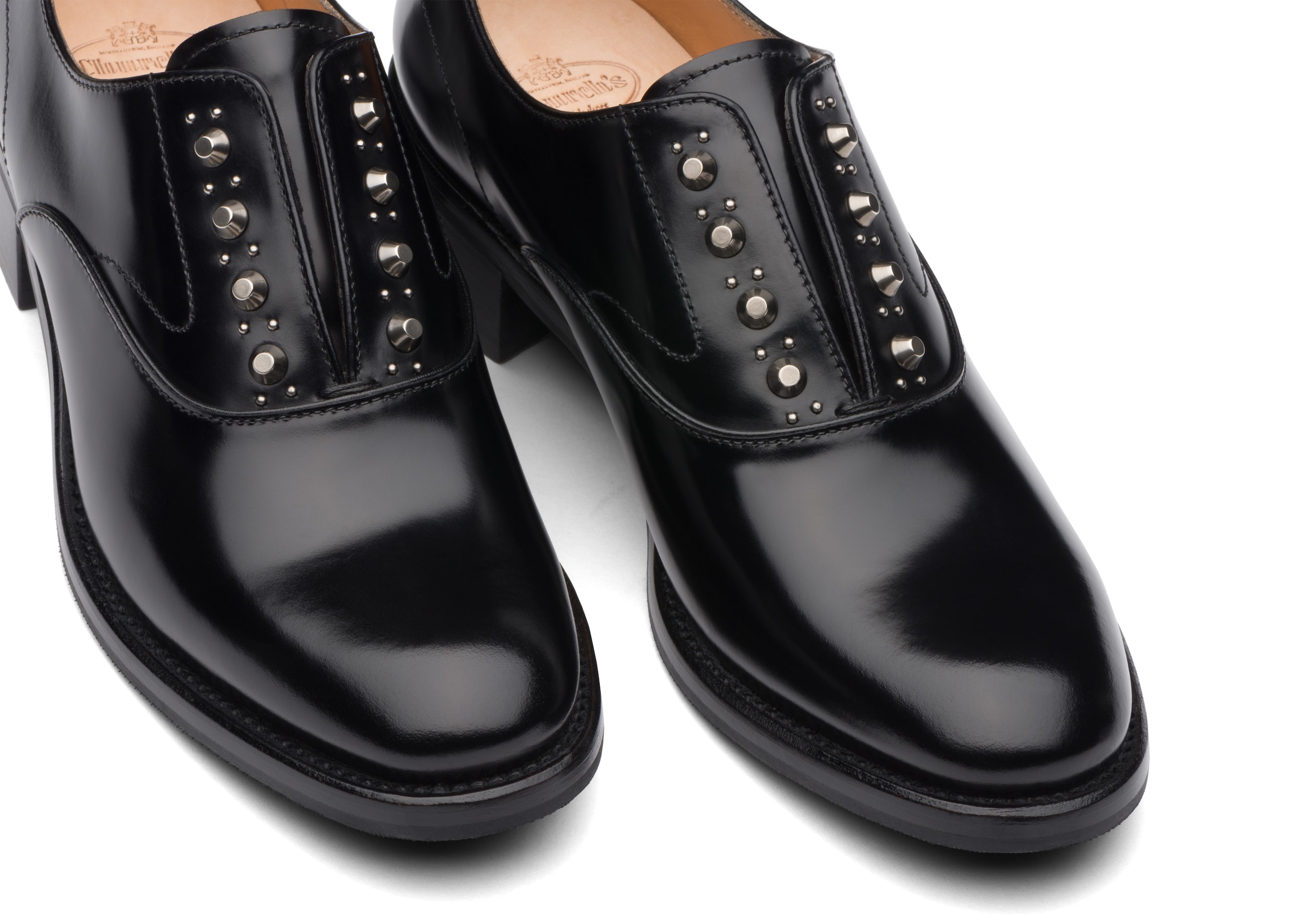 Issie r Church's Slip-On in Vitello Rois con Tacco Nero