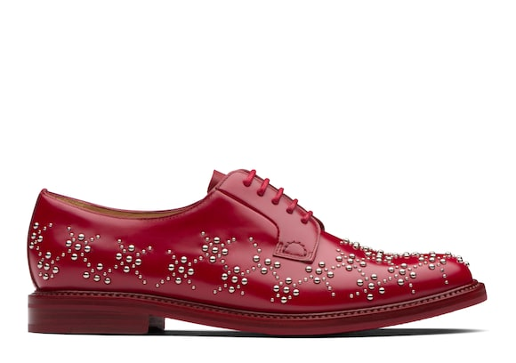 Church's  Derby in Vitello Spazzolato Lucido con Borchie Cherry