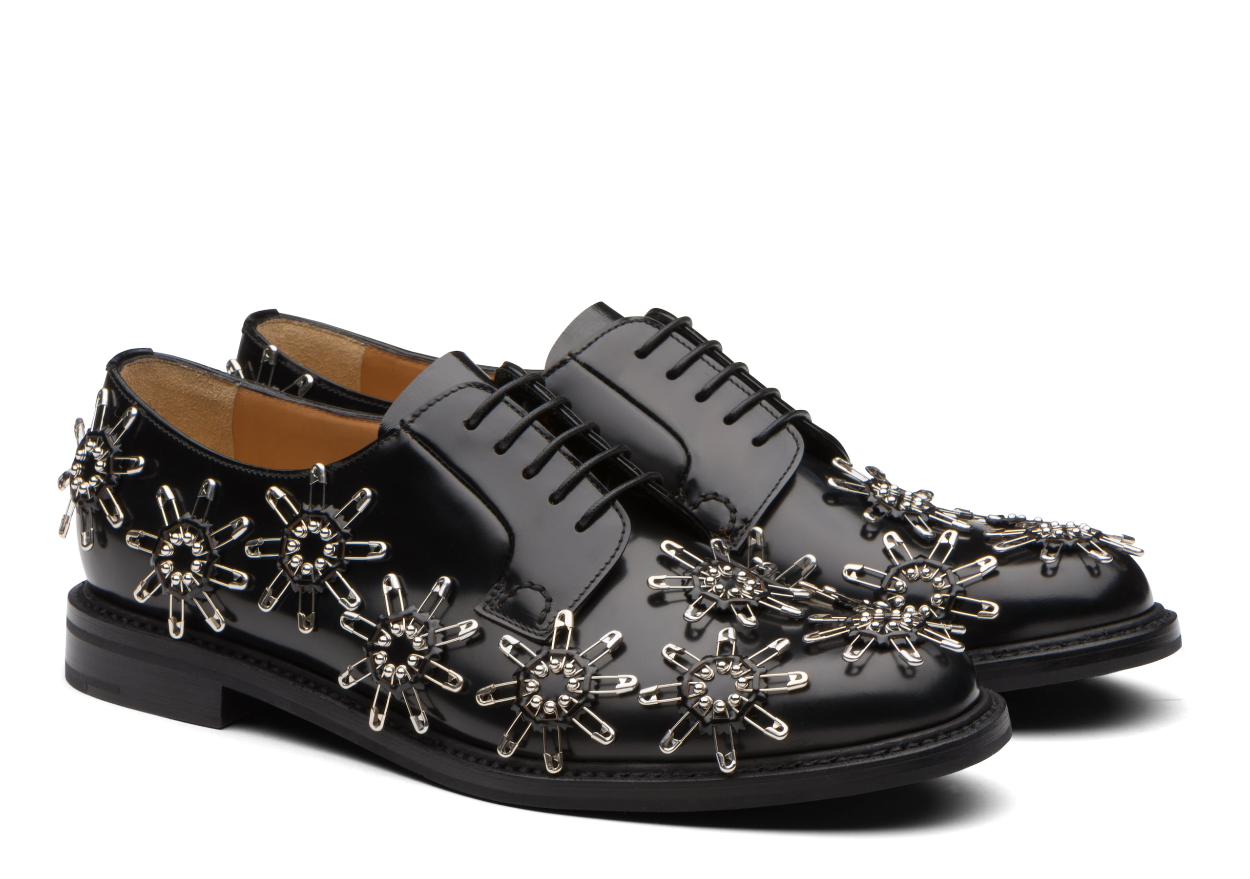Shannon 11 x noir kei ninomiya Church's Polished Binder Derby Stud Black