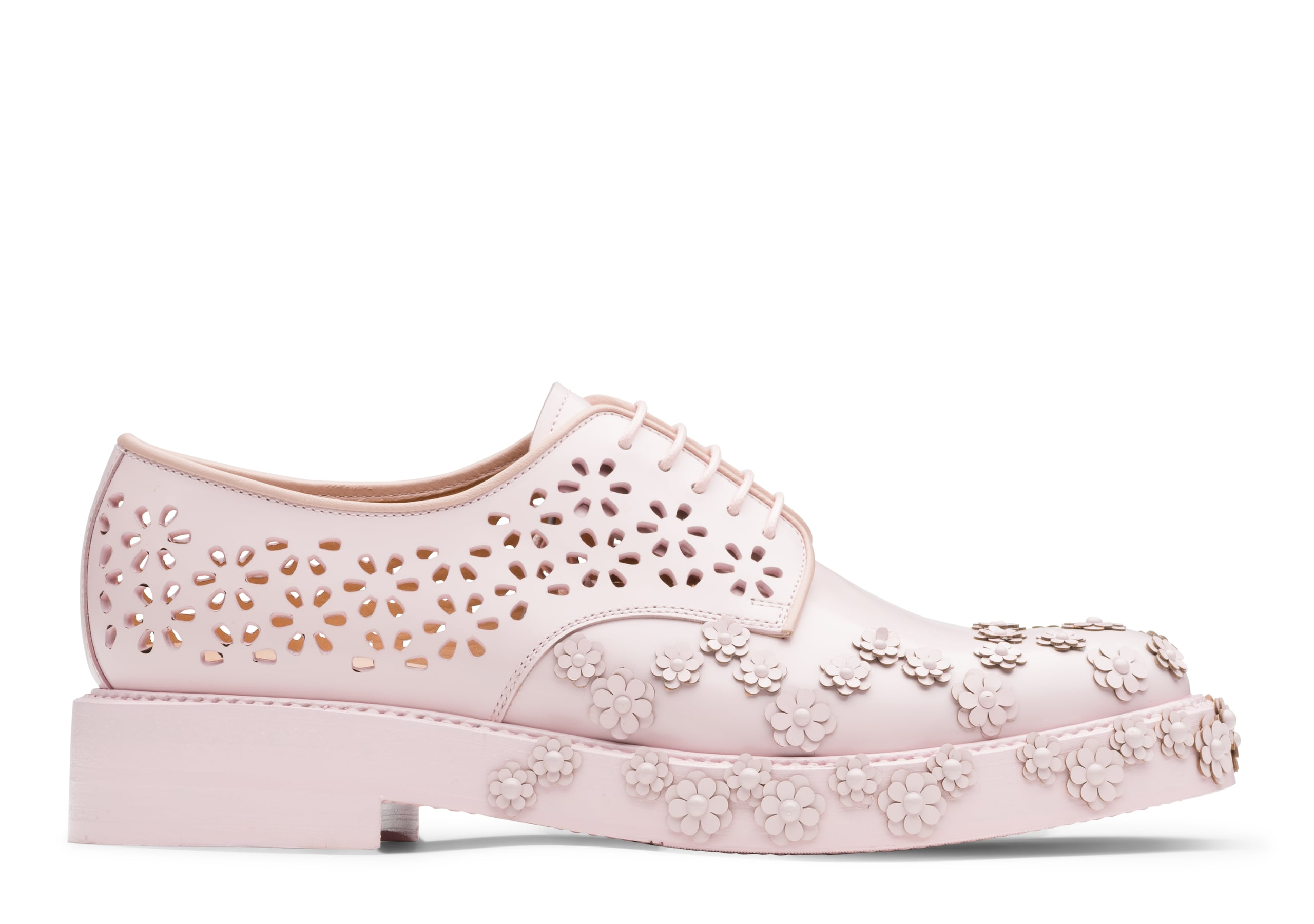 Shannon 20 Church's Derby cloutée en cuir verni  Rose