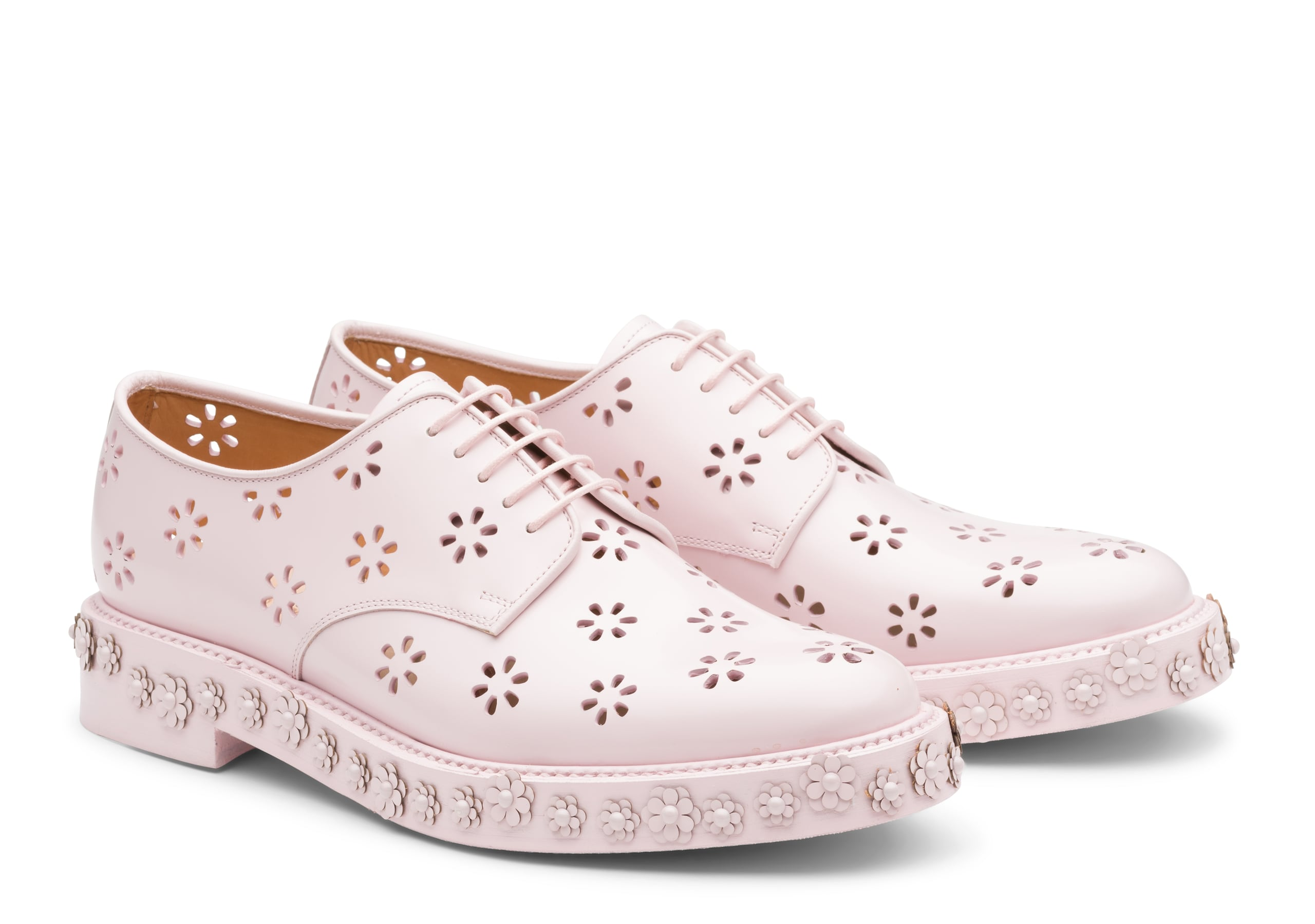 Shannon 21 Church's Derby cloutée en cuir verni  Rose
