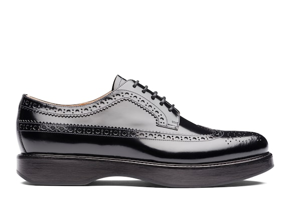 Polished Fumè Derby Brogue