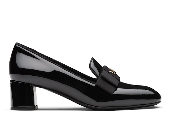 Church's Abbie 45 Patent Heeled Loafer Black