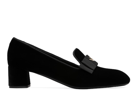 Church's Abbie 45 Velvet Heeled Loafer Black