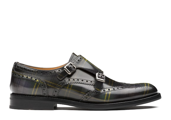 Church's true Polished Fumè Monk Tartan