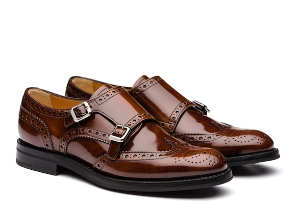 Church's true Polished Fumè Monk Brogue Tabac