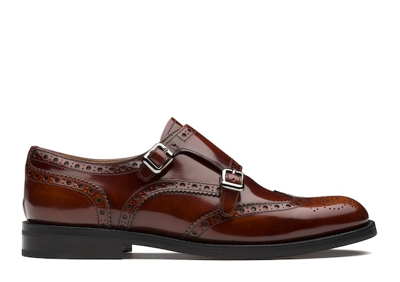 Church's  Polished Fumè Monk Brogue Tabac