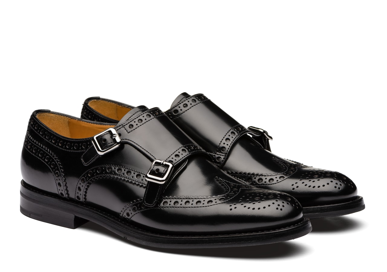 Lana r Church's Polished Binder Monk Brogue Black