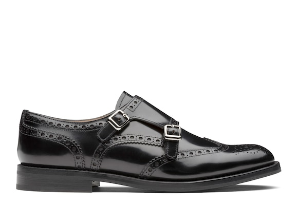 Church's Lana r Monk Brogue in Pelle di Vitello Spazzolato Nero